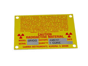 Gamma GR100 Labels & Lighting